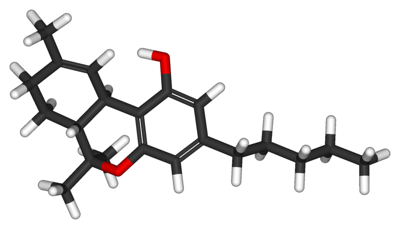 graphic of a THC molecule