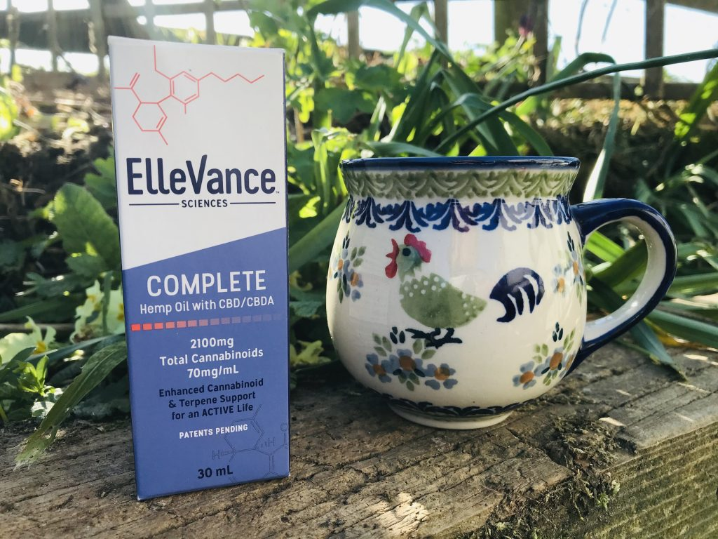 Picture of ElleVance oil and coffee mug