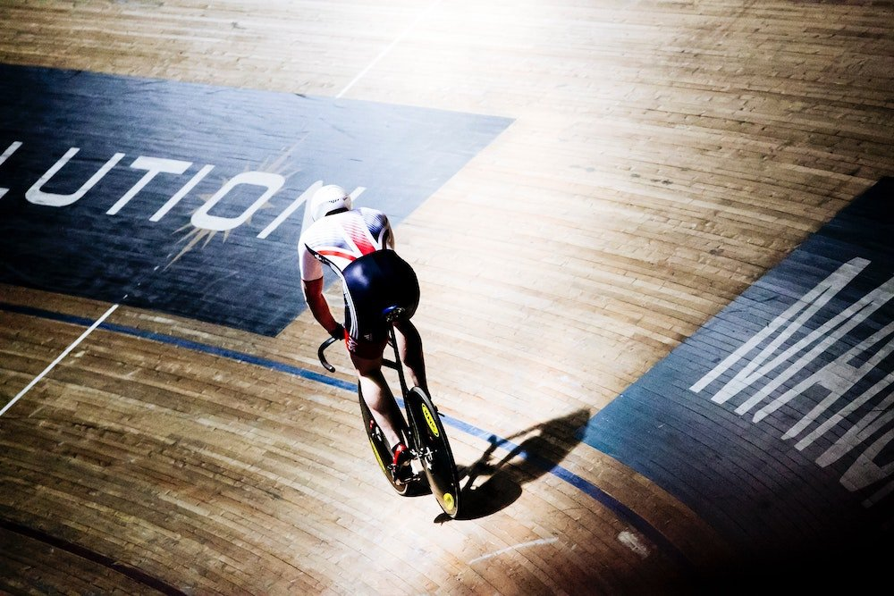 Great Britain Olympic cyclist on track