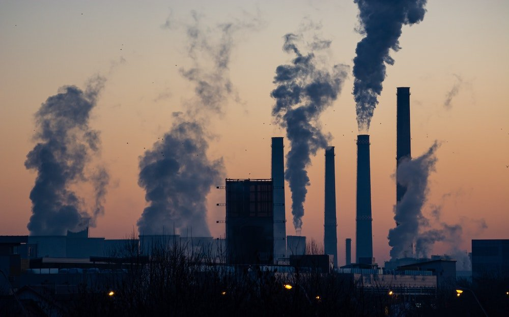 Power stations producing greenhouse gasses