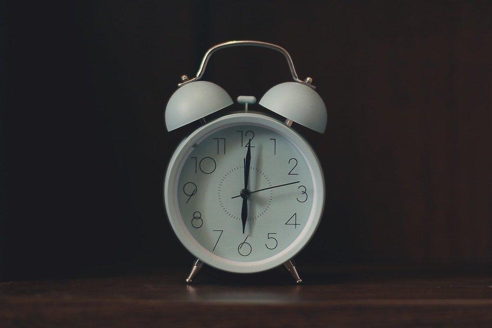 A white clock